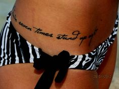 Fall down seven times stand up eight #tattoo!!