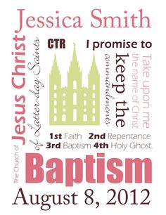 Free customizable baptism printable