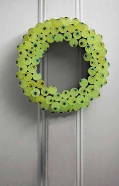 glow-in-the-dark eyeball wreath.