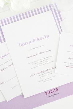 Modern Elegance Weding Invitations from Shine Wedding Invitations #purple