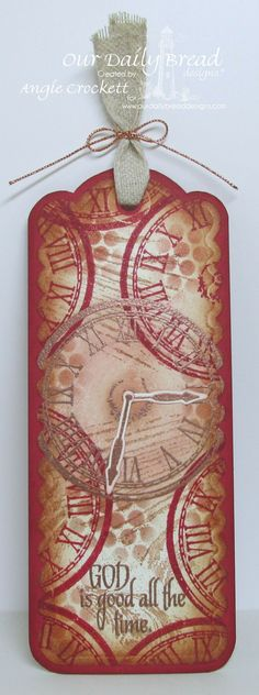 Stamps - Our Daily Bread Designs God's Timing, ODBD Custom Bookmark Dies