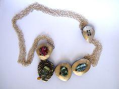 Patricia Nowogrodski  Necklace, Silver, Gold, Aquamarine, Tourmeline.