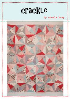 crackle quilt PDF pattern - Layer Cake