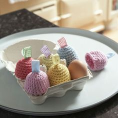 Crochet Egg Cozies, pattern in Cute and Easy Crochet by Nicki Trench