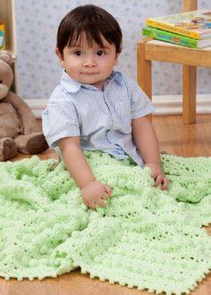 Red Heart® Plush Baby Bobble Blanket