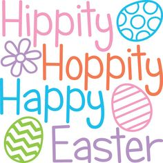 Easter vinyl decal for glass block, tile, or wood sign