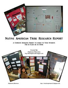 A complete Native American Research report.  Just give it to the kids and they create a nice project at the end.  Classroom tested.  $