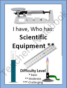 I Have, Who Has Science/Safety Lab Equipment - 24 Cards product from DifferentiationMadeEasy on TeachersNotebook.com