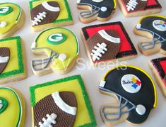 Helmet & Football Cookies
