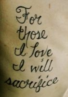 army, marine, navy, air force, love, sacrifice, honor, brave, bravery, tattoo, rib, rib tattoo