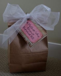 """great gift- """"A Mother Who Knows"""" survival kit"""