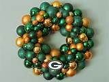 GREEN BAY PACKERS Ornament Wreath with G logo by dottiegray