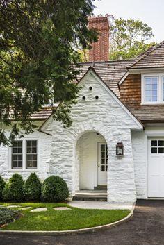 White stone house --