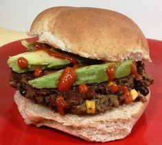 Emily Bites - Weight Watchers Friendly Recipes: Spicy Black Bean Veggie Burgers