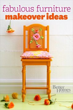 Transform piece of dated furniture with  a little creativity and elbow grease. Learn how here: http://www.bhg.com/decorating/makeovers/furniture/fabulous-furniture-makeovers/