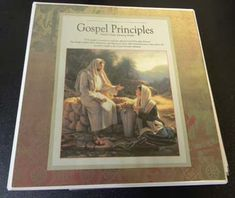 Binder printouts with a year of FHE lessons based on the Gospel Principles manual.