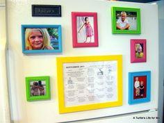diy fridge photo frame magnets