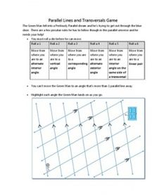 Parallel Lines and Transversals Game