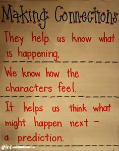 Always teach connections but it's always hard for kids to tell how they help.
