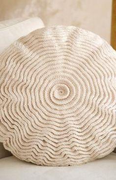 Ruffle Rose Pillow free crochet pattern