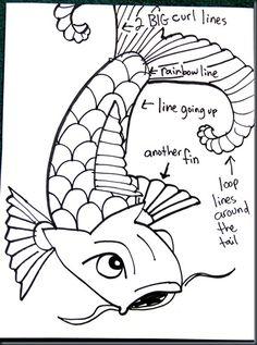 Drawing koi tutorial