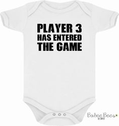 This gender neutral baby clothing is a great gift for a new dad! Cute way to show off your love for video games. It can even be used to announce your pregnancy and then be worn by your child once he or she arrives!If you're unsure about what size ...
