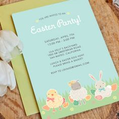 A DIY printable Easter egg hunt invitation!