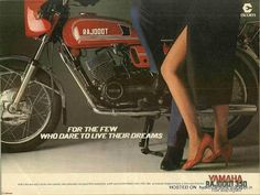 The Rajdoot YAMAHA RD 350 - I miss you. Same colour too (but I didn't have the cowl).