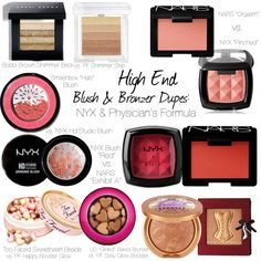 High End Blush  Bronzer Dupes by loveshelbey, via Polyvore