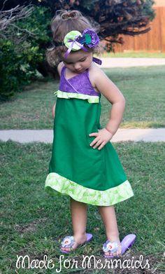 Little Mermaid Ariel Dress- Disney Princess. $36.00, via Etsy.