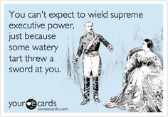 """""""You can't expect to wield supreme executive power just because some watery tart threw a sword at you"""" is an inspirational quote from the movie Monty Python and the Holy Grail. It reminds me to stay humble and smile at the absurdity of life. (#1 An inspirational quote) #modcloth #makeitwork"""