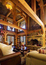 idea, living rooms, fireplaces, dream hous, beam