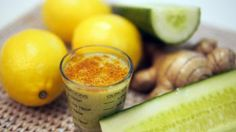 cucumber 1 small piece ginger pinch cayenne pepper (to taste) 4 ice ...