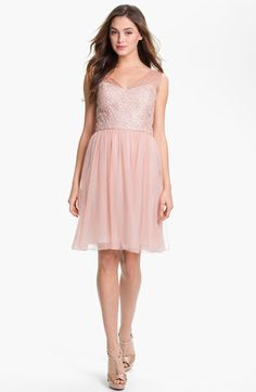 Suzi Chin for Maggy Boutique Lace & Chiffon Dress | Nordstrom
