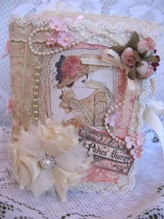 Graphic 45 Pearl Button Flower Ladies Diary