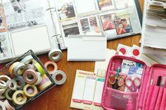 Heart Handmade UK: Organizing Journal Supplies   Project Life Organization from FiningNana