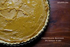 No-Bake Chocolate Bottom Pumpkin Tart