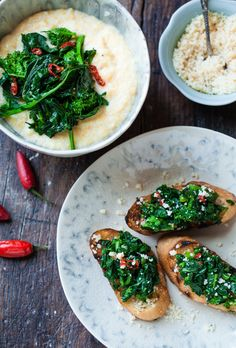 red chili rapini with olive oil and garlic
