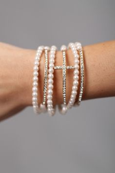 6 Piece Cross Bracelet Set