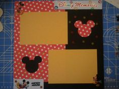Disney Memories Premade  Scrapbook Page by Sarah's Memory Makers, $4.00