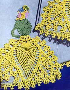 Pineapple Walk Motif crochet pattern from Pillow Cases Decorative Crochet, Clark's O.N.T. J Coats, Book No. 264, in 1950. motif pattern, walk motif, bookmark, crochet patterns, pineappl walk