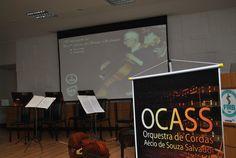 Na abertura da apresentação da OCASS foi feita uma homenagem ao professor Aécio de Souza Salvador, que dá nome à orquestra.