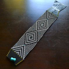 beaded bracelets, like this one from WhereTheMoonGoes on Etsy.