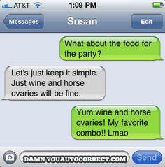 funni text, laugh, funni thing, autocorrect messag, autocorrect strike, auto correct, hors ovari, ovari textmessagelolcom, autocorrect fail