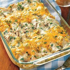 Super Bowl party recipes: Chicken, Chili and Cheese Enchiladas
