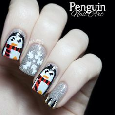 Penguin christmas   #nail #nails #nailart
