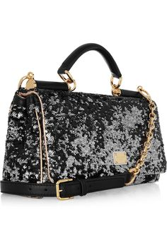 DOLCE & GABBANA  Sequined leather