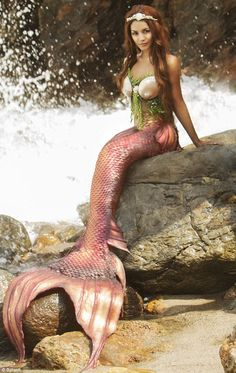 She's got tail: Vanessa Hudgens posed as a mermaid for the new Project Mermaid campaign wh...
