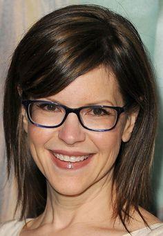 Medium hair with glasses!