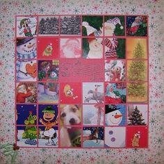 Christmas card mosaic